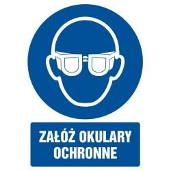 GL003 Załóż okulary ochronne