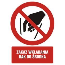 GC081 Zakaz wkładania rąk...