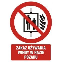 GC086 Zakaz używania windy...
