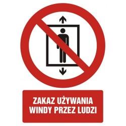 GC090 Zakaz używania windy...