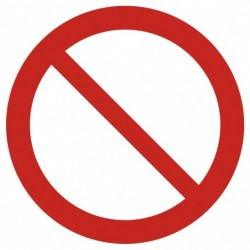 GAP001 Ogólny znak zakazu